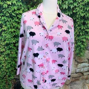 KAREN NEUBERGER Flannel Pajamas, 1X